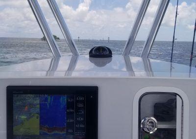 Garmin 7612XSV Touch Screen Chart Plotter, Edson Steering Wheel, Glove Box, Mechanical Throttle