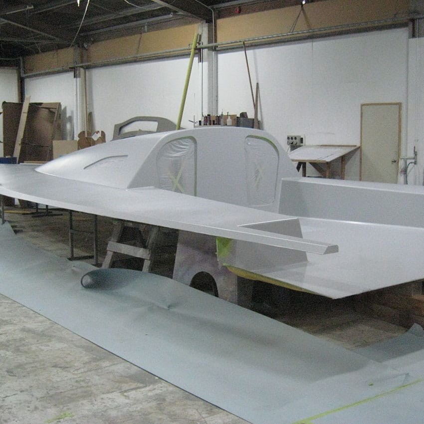 3rd step on building a Contender boat