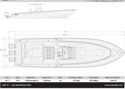 Contender 39ST Specifications